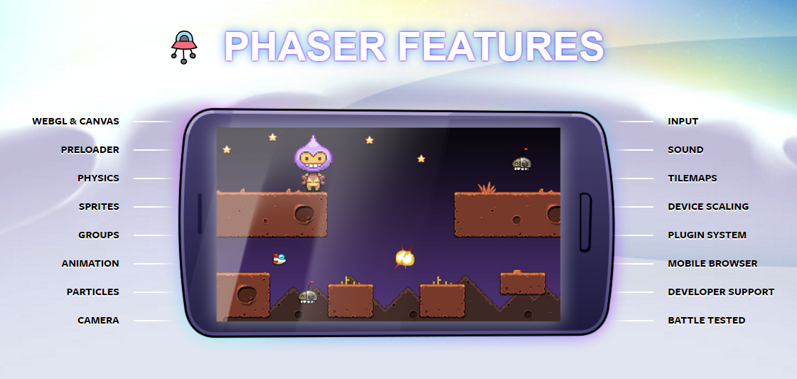 Features of Phaser - A fast, fun and free open source HTML5 game framework